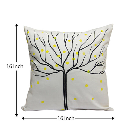 Handcrafted Charcoal Autumn Cushion Covers (Set of 2)