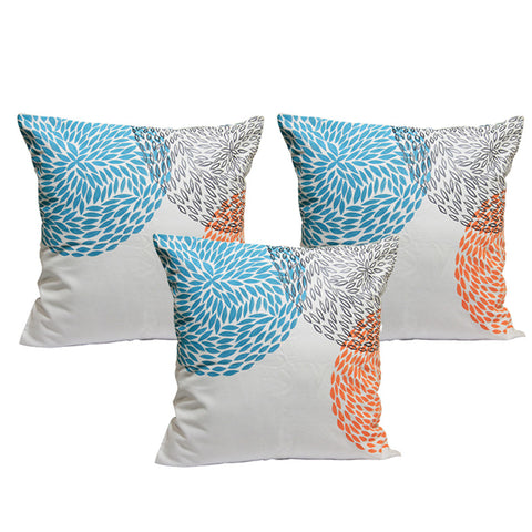Handcrafted Abstract Circles Cushion Covers (Set of 3)