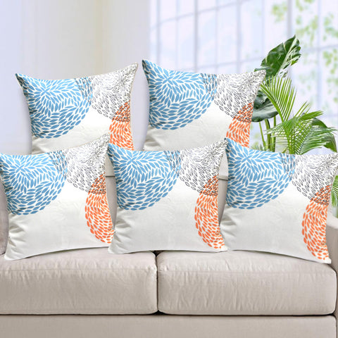 Handcrafted Abstract Circles Cushion Covers (Set of 5)