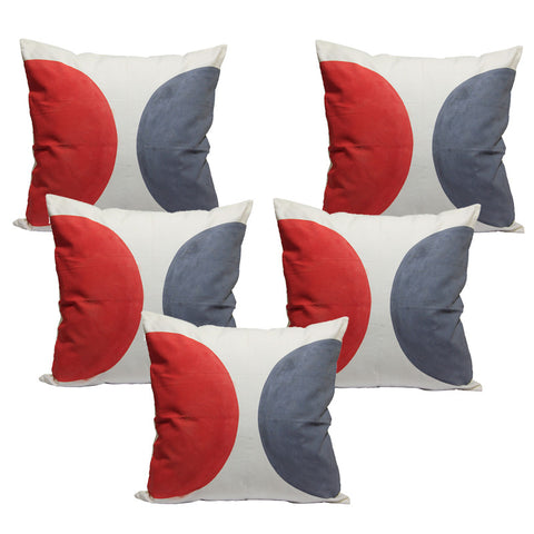 Handcrafted Half Moons Cushion Covers (Set of 5)