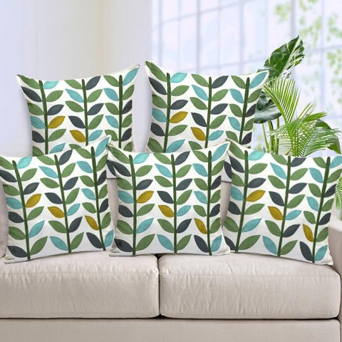 Handcrafted Spring Celebration Cushion Covers (Set of 5)