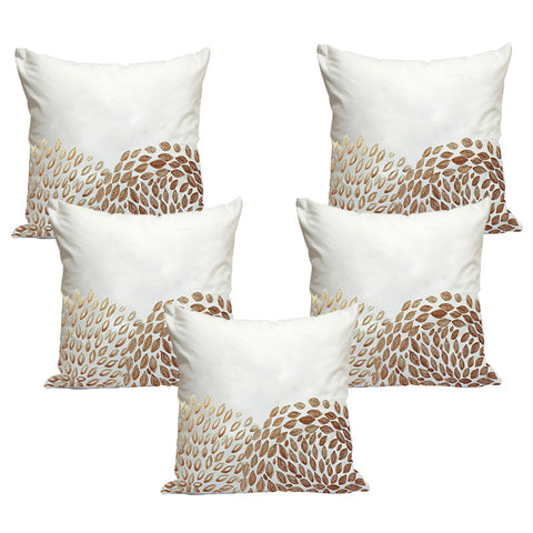 Handcrafted Gold Splash Cushion Covers (Set of 5)