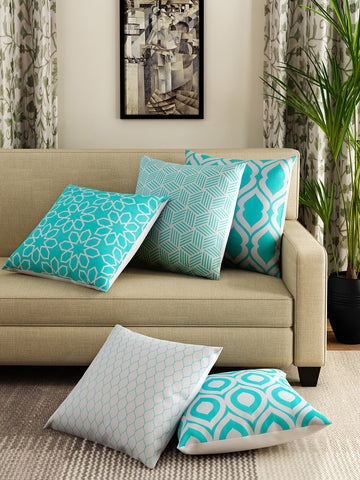 Handcrafted Geometric Splash Cushion Covers