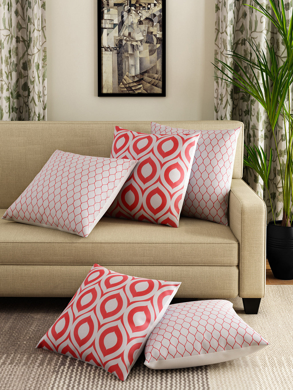 Handcrafted Geometric Gems Cushion Covers
