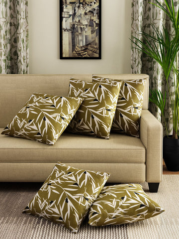 Handcrafted Umber Legacy Cushion Covers (Set of 5)