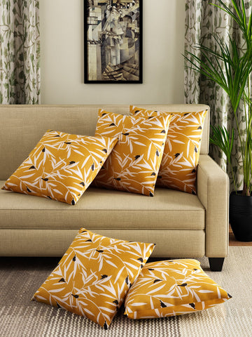 Handcrafted Ocre Bequest Cushion Covers (Set of 5)