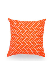 Hand-painted Tangerine Delight Cushion Covers (Set of 5) - RANGRAGE - 3