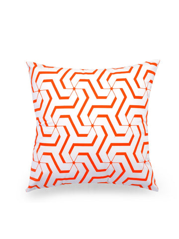 Handcrafted Tangerine Delight Cushion Covers (Set of 5)