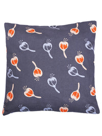 "RANGRAGE Handcrafted Fruit Design Set of 5 Grey Cushion Cover (16"" x 16"")"