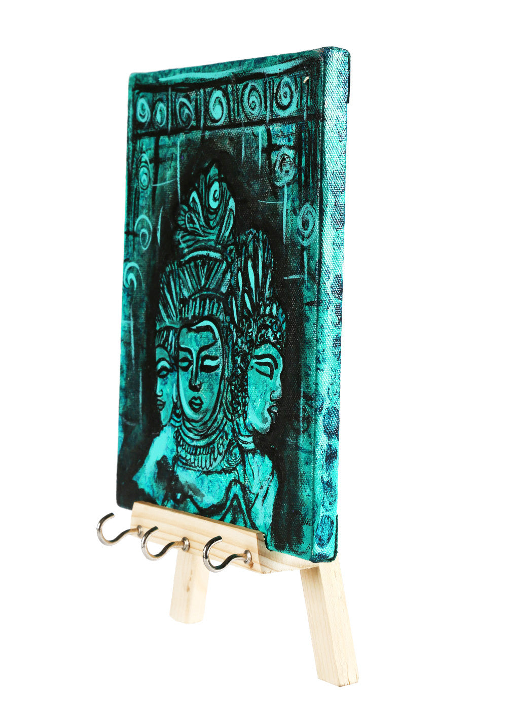 THE BLUE AJANTA DECORATIVE KEYCHAIN HOLDER - RANGRAGE
