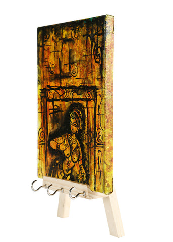 THE YELLOW AJANTA DECORATIVE KEYCHAIN HOLDER
