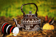 Hand-painted Rustic Rendezvous Kettle - RANGRAGE