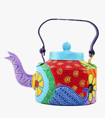 Hand-painted Colorful Saga Kettle