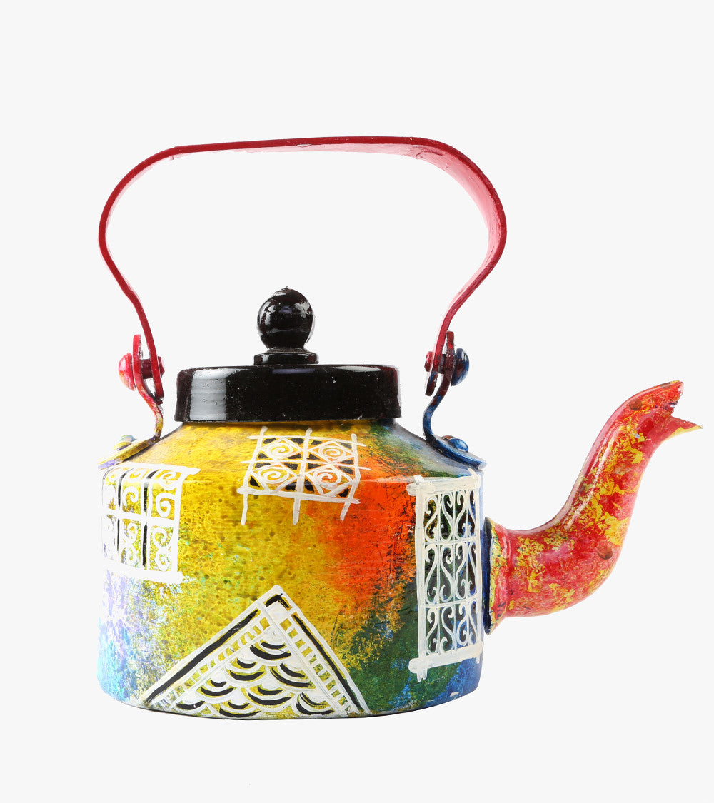 Hand-painted Royal Jharohka Kettle - RANGRAGE