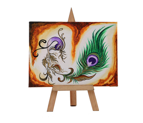 Hand-painted Ornated Beauty Mini Painting