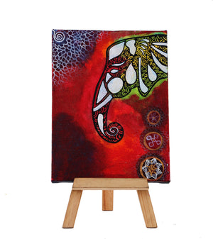 Hand-painted Elephant Classic Mini Painting - RANGRAGE