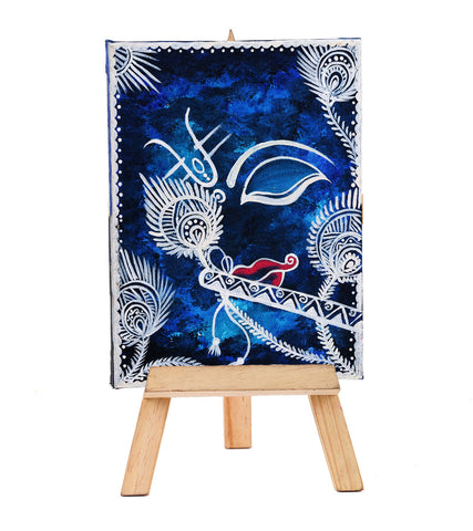 Hand-painted Mystic Krishna Mini Painting