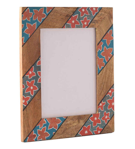Hand-painted Bright Floral Photoframe