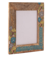 Hand-painted Floral Ikat  Photoframe