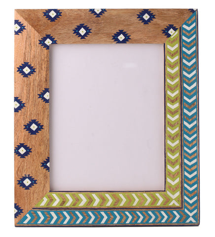 Hand-painted Spring Aztec  Photoframe