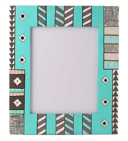 Hand-painted Soothing Blues Photoframe