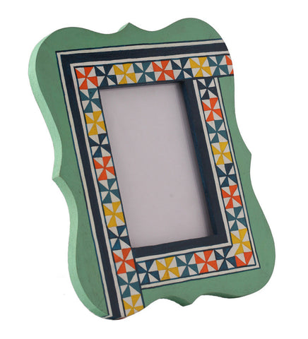 Hand-painted Summer Aztec  Photoframe