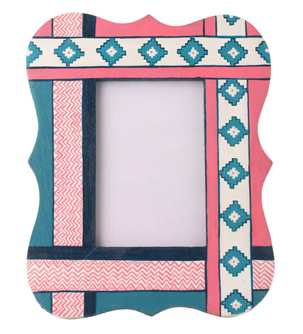 Hand-painted Christmas Aztec  Photoframe