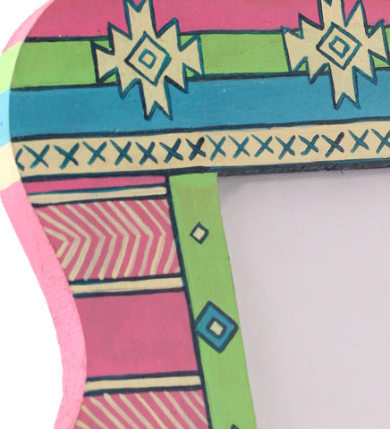 Hand-painted Bright Aztec  Photoframe