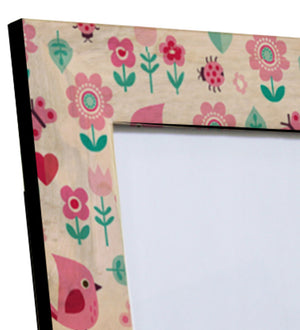 Handcrafted Pink Forest Handpainted Mangowood Photoframe