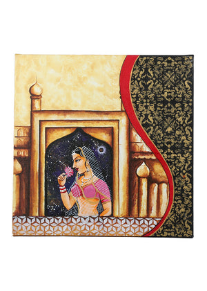 Hand-painted Royals of Rajasthan Panel Painting - RANGRAGE