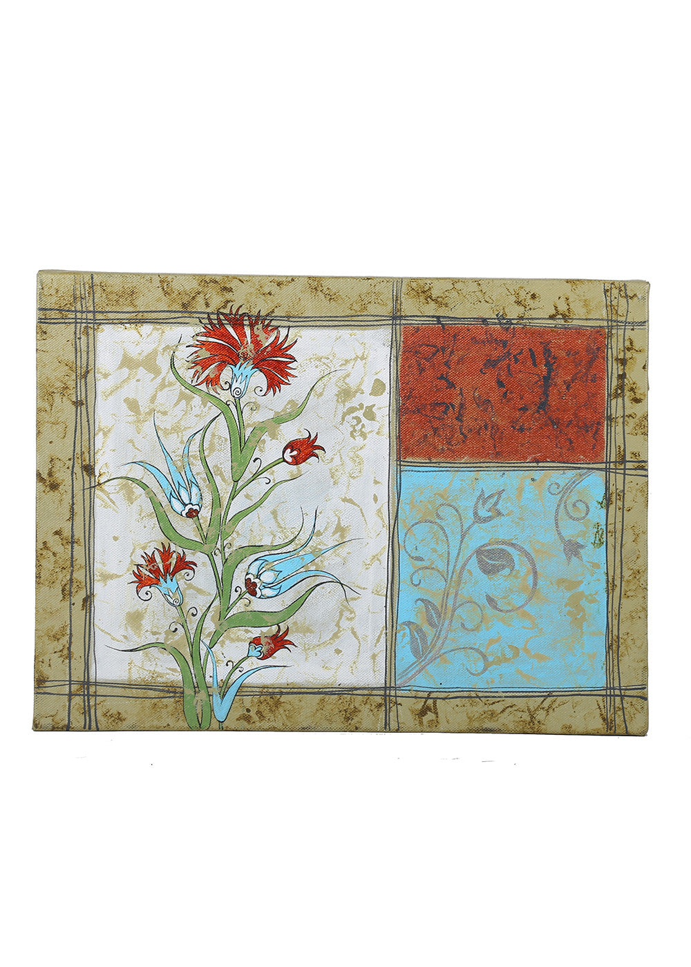 Hand-painted Colorful Homes Panel Painting - RANGRAGE