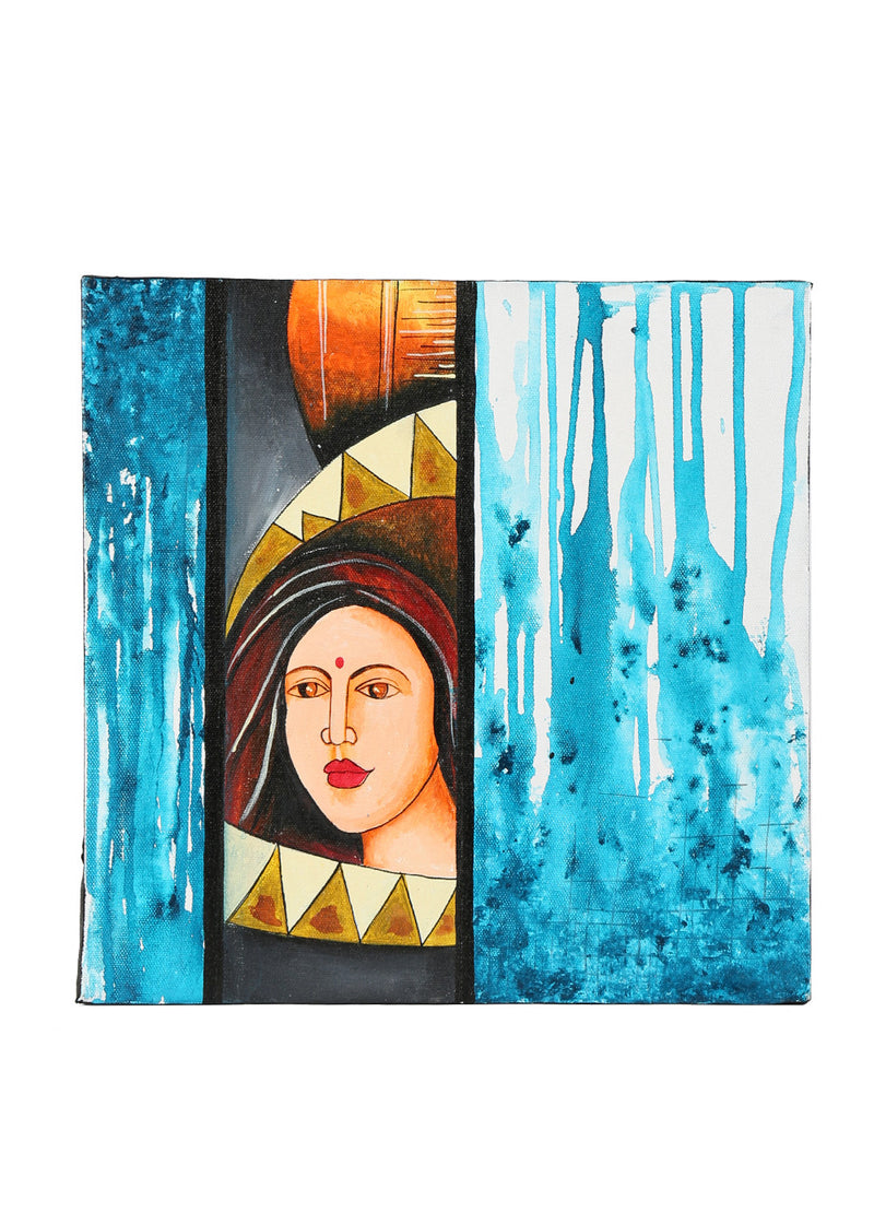 Hand-painted Gracious Lady Panel Painting - RANGRAGE