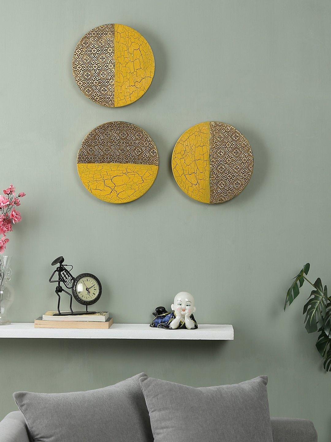 Hand-painted Limited Edition Metal Wall Art (Set of 3)