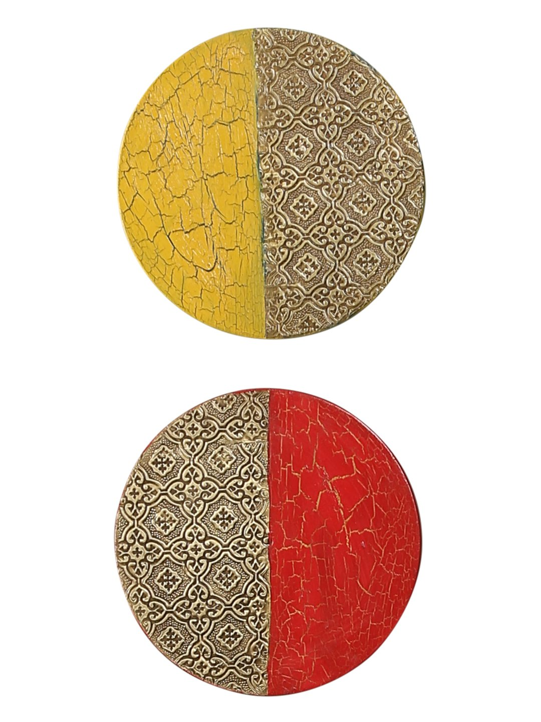 Hand-painted Limited Edition Metal Wall Art (Set of 2)