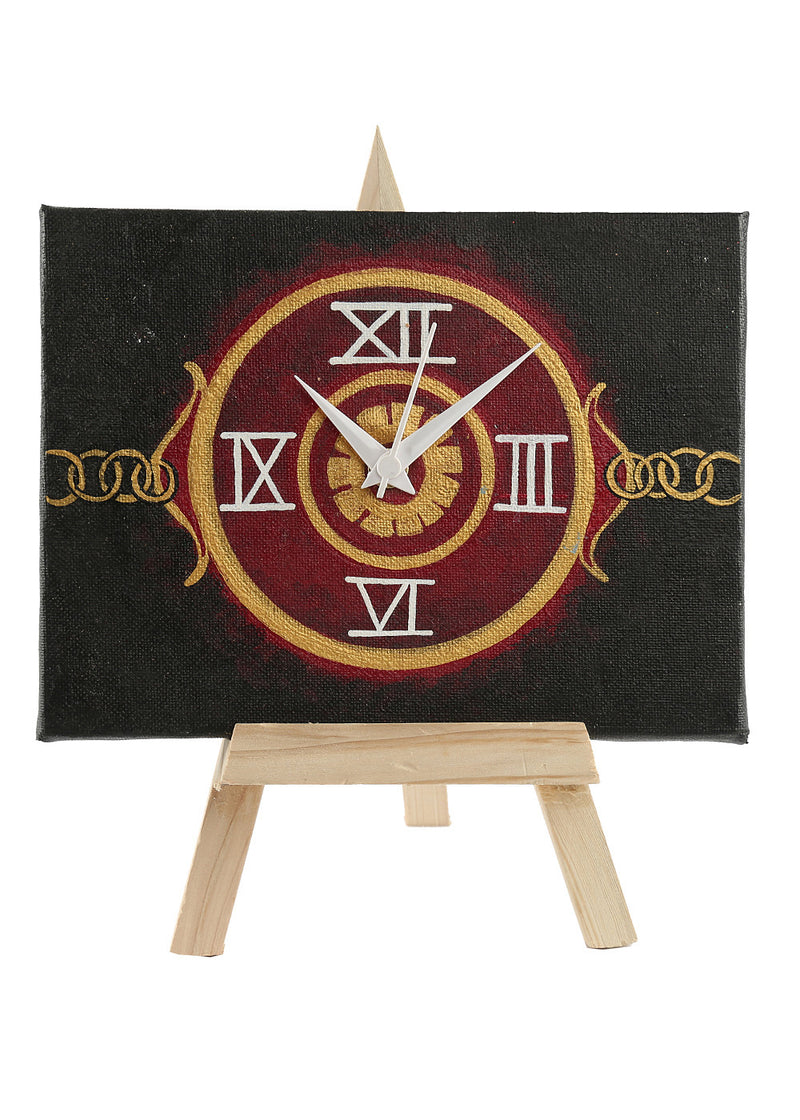 Hand-painted Mysterious Steampunk Table Clock - RANGRAGE