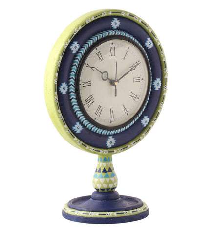 Hand-painted Spring Aztec  Table Clock