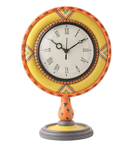 Hand-painted Classic Aztec  Table Clock
