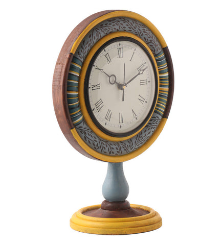 Hand-painted Summer Ikat  Table Clock