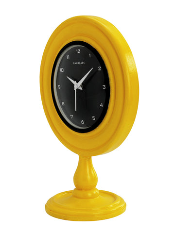 ELEGANT AMBER DESIGNER TABLE CLOCK
