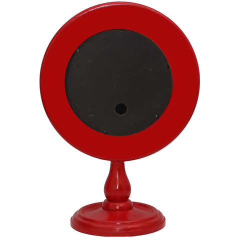 ELEGANT SCARLET DESIGNER TABLE CLOCK