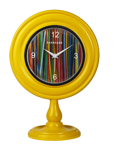 AMBER RAINBOW DESIGNER TABLE CLOCK