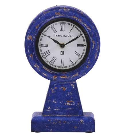 Handcrafted Vintage BlueTable Clock