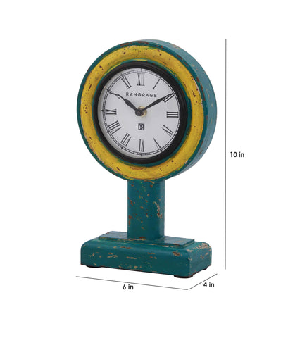 Handcrafted Vintage Yellow Table Clock