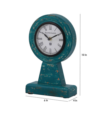 Handcrafted Vintage Green Table Clock
