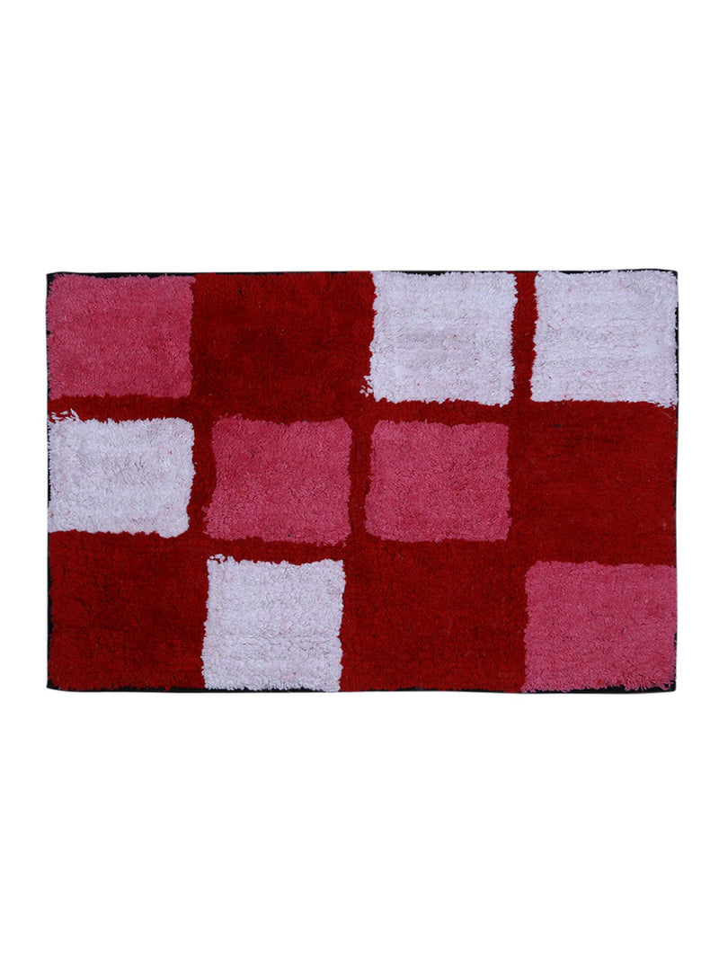 Microfiber Anti-Skid Large Bathmat (62x42cm, Red) - Pack of 1