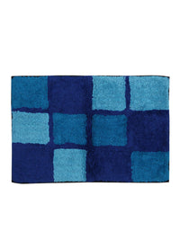 Microfiber Anti-Skid Large Bathmat (62x42cm, Blue) - Pack of 2