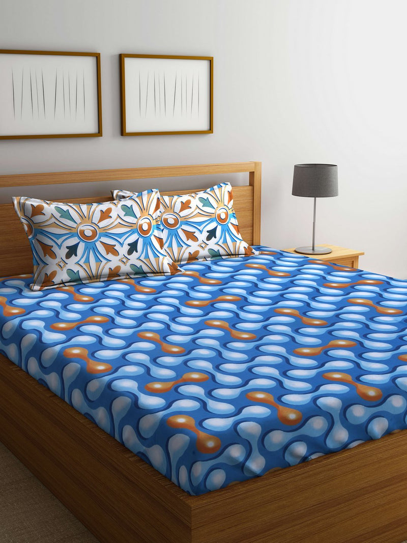 mafatlal-cotton-blue-144-tc-double-bedsheet-with-2-pillow-covers-HFBSASDLAS3033