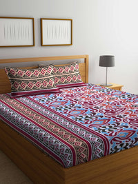mafatlal-cotton-red-110-tc-double-bedsheet-with-2-pillow-covers-HFBSFODLAS1001