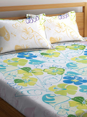 Mafatlal Multi Color Cotton 144 TC Double Bed Sheet With Pillow Covers