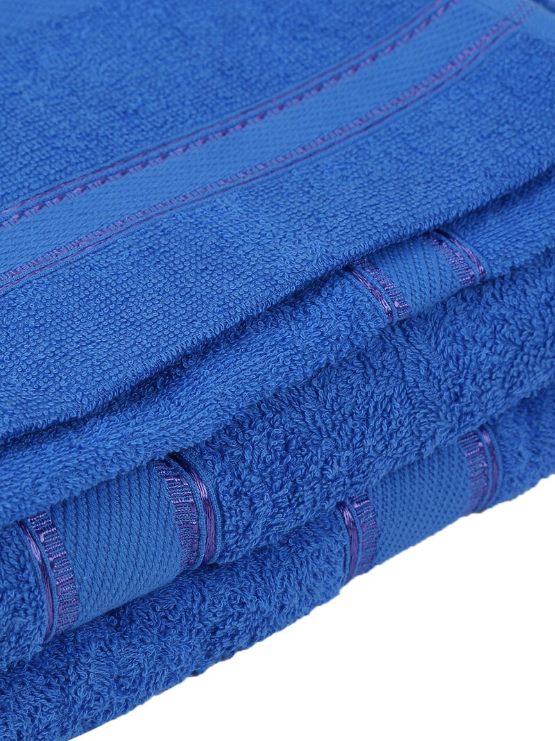 Set of 4, 100% Cotton 500 GSM Bath Towel